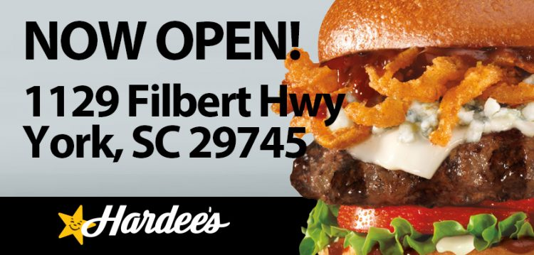 Hardees is Now Open in York, SC