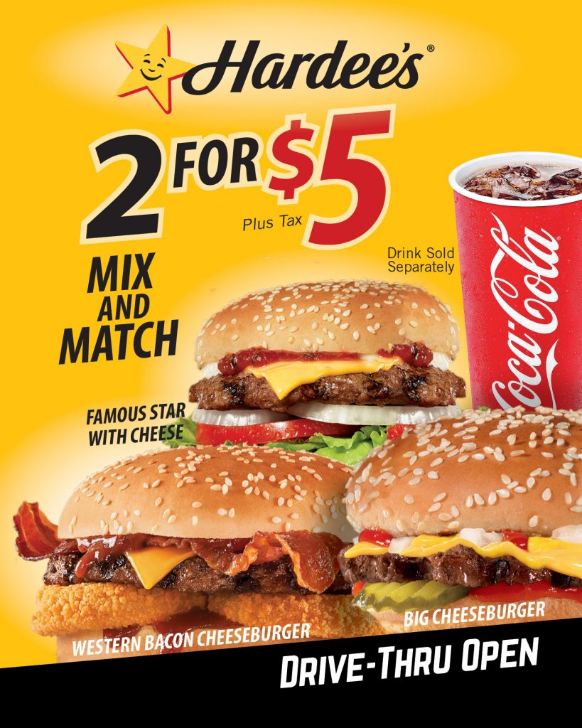 2 for $5 Mix & Match Burgers